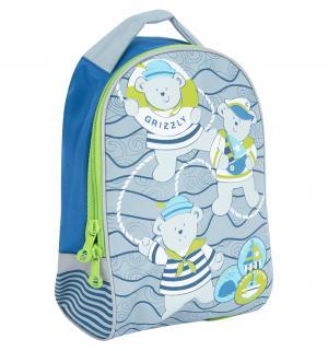 Рюкзак детский  цвет: синий-салатовый 25х33х13 см, серый/синий Grizzly