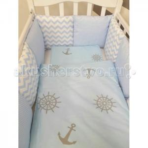 Комплект в кроватку  Бриз (6 предметов) с бортиками-подушками ByTwinz