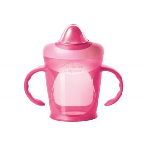 Чашка-непроливайка  тренировочная, цвет: розовый Tommee Tippee