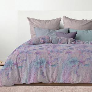 Комплект постельного белья  Идиллия, евро Романтика. Цвет: разноцветный