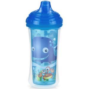 Термопоильник  с твердым носиком, 9 месяцев, цвет: голубой Nuby