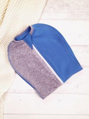 Конверт-кокон Небесный меланж, цвет: серый/синий Супермамкет