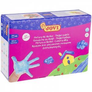 Краски пальчиковые 6 цветов 750 г Jovi