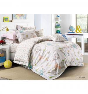Комплект постельного белья  Игрушки, цвет: серый 3 предмета Cleo