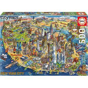 Пазл  Карта Нью-Йорка, 500 элементов Educa