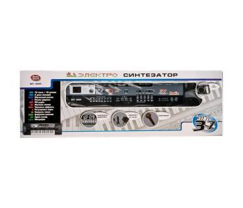 Музыкальный инструмент  Электросинтезатор с микрофоном 37 клавиш Play Smart