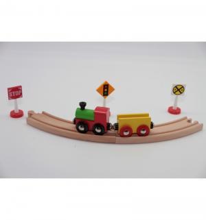 Игровой набор  Деревянная железная дорога (32 детали) 102 х 44 см Balbi