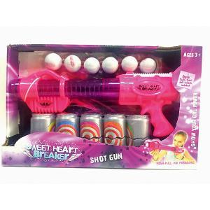 Бластер Toy Target Sweet Heart Breaker с банками, (розовый)