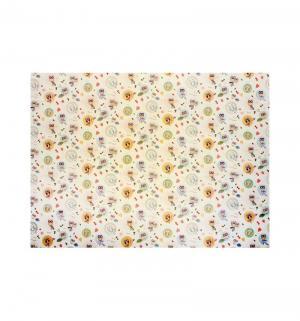 Клеенка  подкладная с ПВХ покрытием без окантовки для девочек, 1 шт, цвет: белый Колорит
