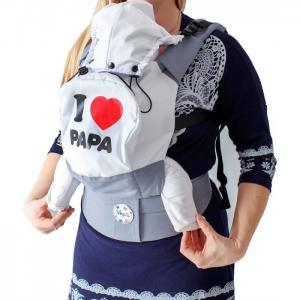 Рюкзак-кенгуру  Эргономичный Премиум Я люблю папу SlingMe