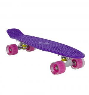 Скейтборд  S-2206E, цвет: фиолетовый Leader Kids