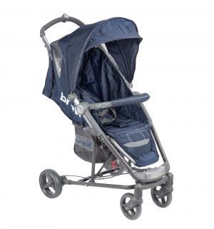 Прогулочная коляска  Ginger, цвет: темно-синий/серый Brevi