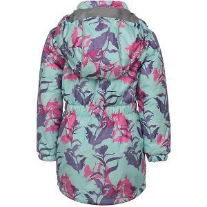 Демисезонная куртка JICCO BY OLDOS Цветы. Цвет: фиолетовый
