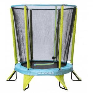 Батут Kindertrampolin Safety 140 с защитной сеткой Hudora