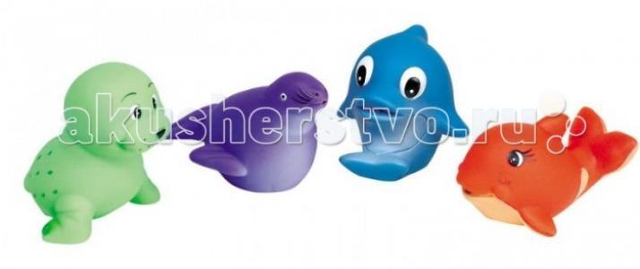 Игрушки для купания Морские животные 4 шт. GK