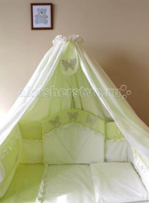 Комплект в кроватку  Бабочка (8 предметов) Балу