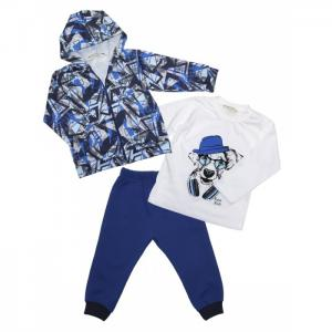 Комплект для мальчика жакет, лонгслив, брюки 6403 Baby Rose