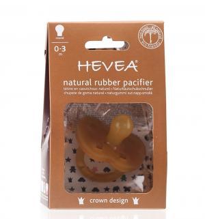 Пустышка  Crown круглая, с рождения, цвет: натуральный каучук Hevea