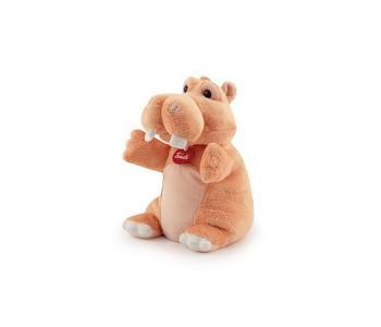 Мягкая игрушка на руку Бегемотик 17х27х17 см Trudi