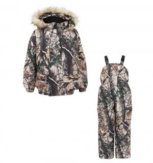 Комплект куртка/полукомбинезон , цвет: бежевый/коричневый Ursindo