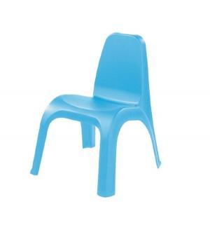 Детский стул пластиковый, цвет:голубой