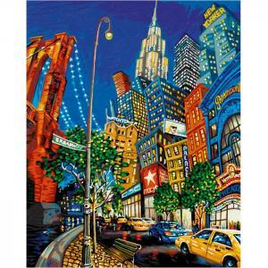Картина по номерам Нью Йорк Большое яблоко 50х40 см Schipper