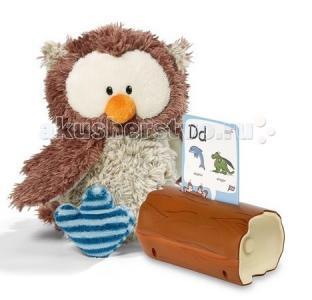 Интерактивная игрушка  Сова Оскар 35 см + 200 карточек Nici