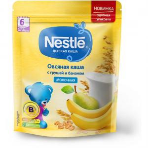 Каша  молочная овсяная с грушей и бананом 6 месяцев 220 г Nestle