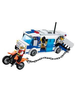 Полицейский автобус 204 деталей Gudi