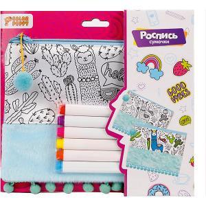 Роспись сумочки  Лама Color Puppy. Цвет: разноцветный