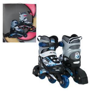 Коньки  Роликовые, цвет: синий Action Sport