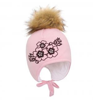 Шапка , цвет: розовый Gusti