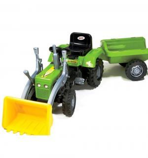 Педальный трактор - экскаватор  с прицепом Dolu