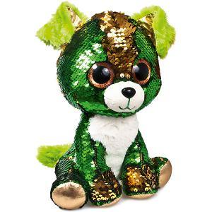Мягкая игрушка  Щенок Изумруд, зелено-золотой Fancy. Цвет: зеленый