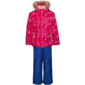 Комплект (куртка, полукомбинезон) GUSTI. Цвет: фуксия