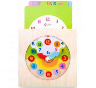 Деревянная игрушка  Часы с вкладышами Распорядок дня Мишки Classic World