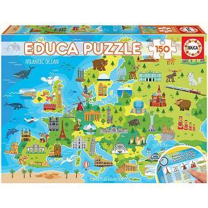 Пазл  Карта Европы, 150 деталей Educa