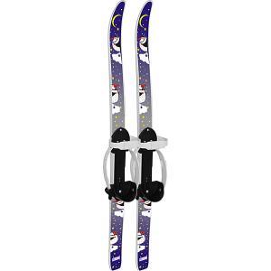 Лыжи детские Быстрики с палками, Пингвины (90/90) Цикл. Цвет: белый