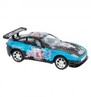 Машинка  цвет: голубой 18 см Пламенный мотор