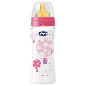 Бутылочка  Well-Being Girl, с 4 месяцев, 330 мл Chicco