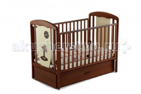 Детская кроватка  Vitalia маятник 125х65 Papaloni