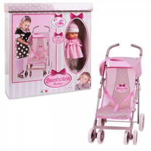 Коляска для куклы  прогулочная с куклой и набором аксессуаров Dimian