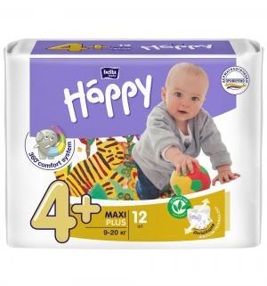 Подгузники  Baby Happy Maxi Plus 4+ (9-20 кг) 12 шт. Bella