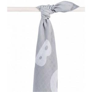 Муслиновая простынка-полотенце Jollein, серая, XL 140x200 см jollein. Цвет: серый