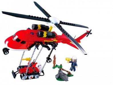 Конструктор  Пожарный вертолёт (325 деталей) Sluban