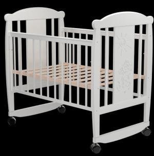 Кровать-качалка  Кот 02, цвет: белый Valle