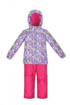 Комплект куртка/полукомбинезон  Принцесса, цвет: фиолетовый/розовый Reike