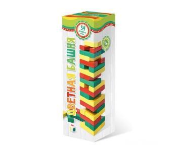 Цветная башня с кубиком Бэмби