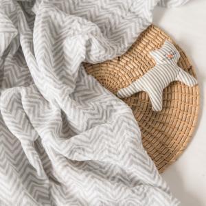Пеленка  муслиновая Шеврон 120х120 Baby Nice (ОТК)