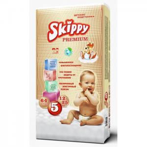 Подгузники Premium р. 5 (12-25 кг) 64 шт. Skippy